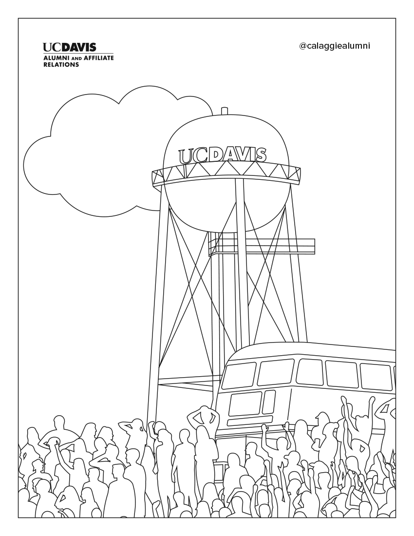 Uc Davis Coloring Book Pages One Aggie Network