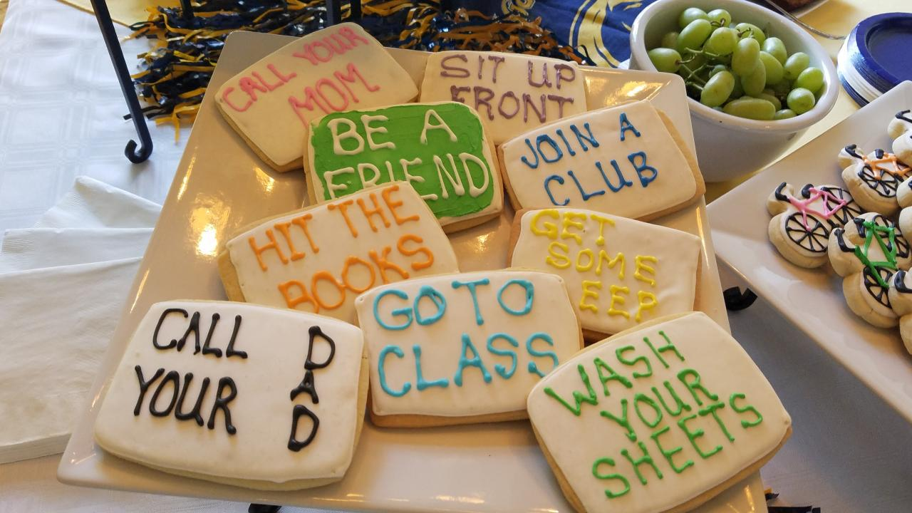Student Send-Offs picture of cookies