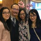 Darrick Lam '87, chair of Family Fellows, with (from left) daughter Carrissa '20, wife Jackie and daughter Cheryn.