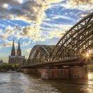 Bridge over water in Cologne.