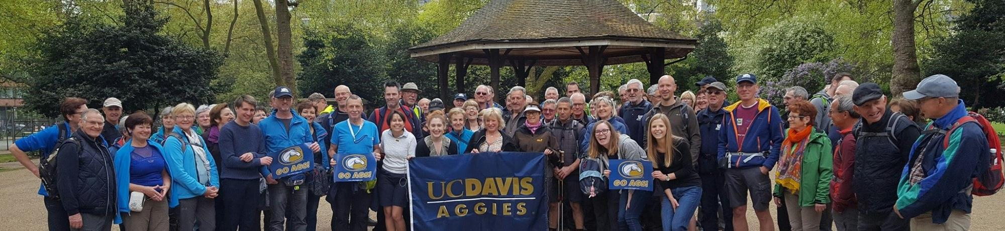 UC Davis Alumni in London at Picnic Day celebration